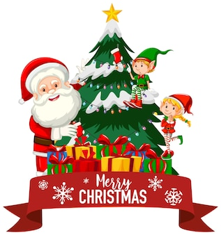 산타와 요정 크리스마스 테마