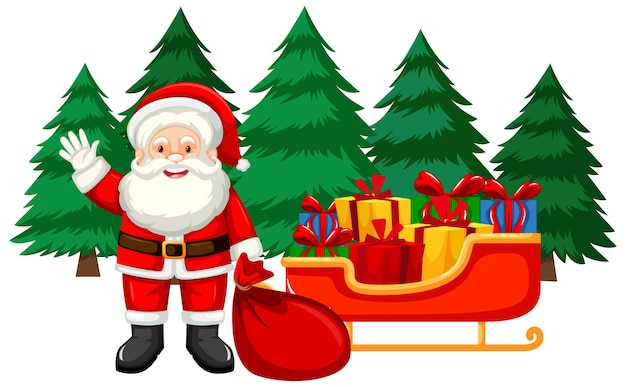 Рождественская тема с дедом морозом и подарками