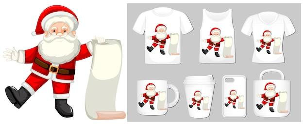 多くの製品でサンタとクリスマスのテーマ