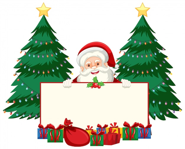 Christmas theme with santa and presents