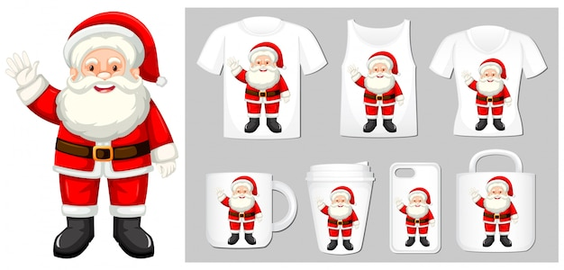 Christmas theme with santa on product templates