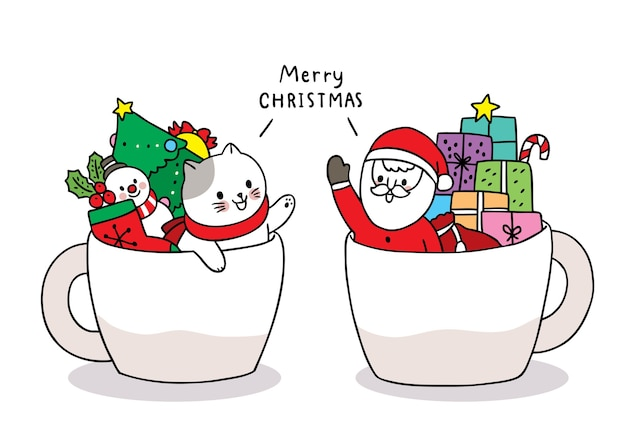 Christmas themed cartoon