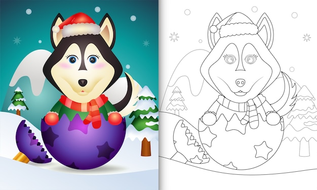 Christmas themed coloring page