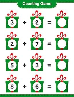 Счетная игра на рождественскую тематику