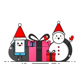 Рождественский тематический дизайн на белом фоне