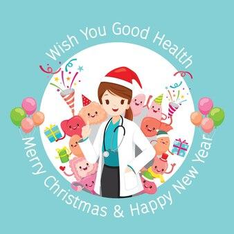 クリスマスをテーマにした医師の挨拶