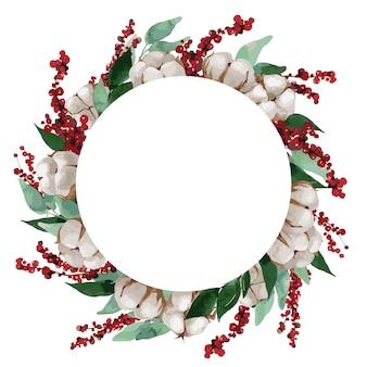 크리스마스 테마 꽃 프레임