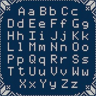 クリスマスをテーマにしたニットパターン