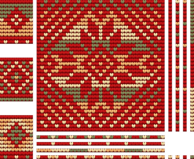 크리스마스 테마 뜨개질
