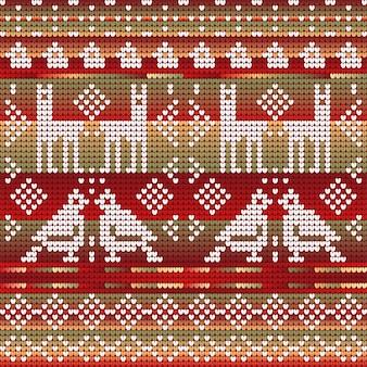 クリスマスをテーマにした編み物