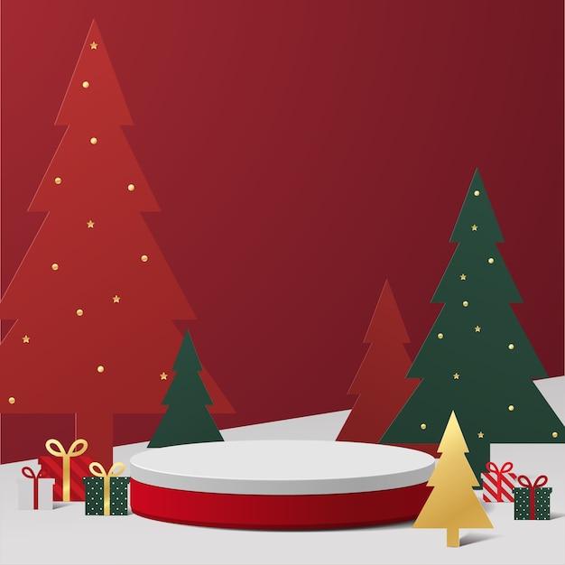 크리스마스 테마 연단 그림
