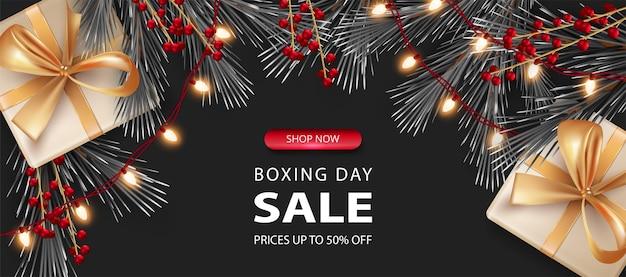 Рождественские тематические продажи баннер