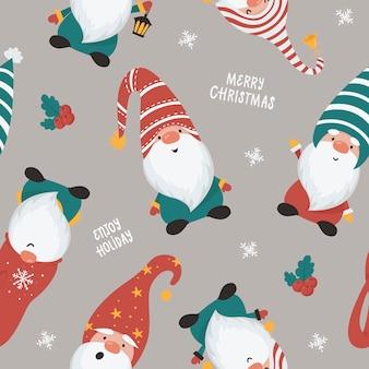 クリスマスをテーマにしたシームレスパターン