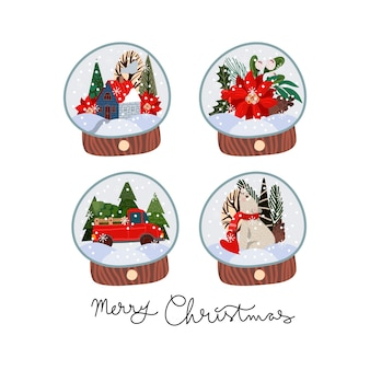 Christmas themed snowglobes