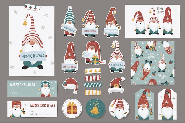 Christmas themed stickers