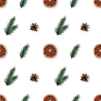 クリスマスの時期のシームレスなパターン
