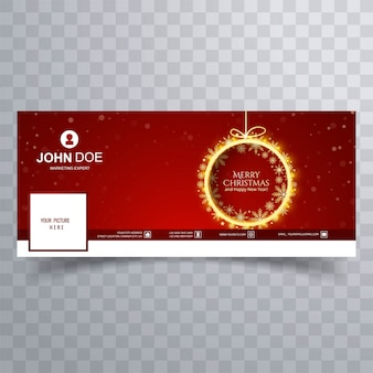 Christmas timeline cover  vector
