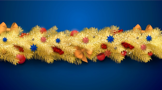 Christmas tinsel realistic background