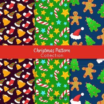 クリスマスの小さな要素のパターン