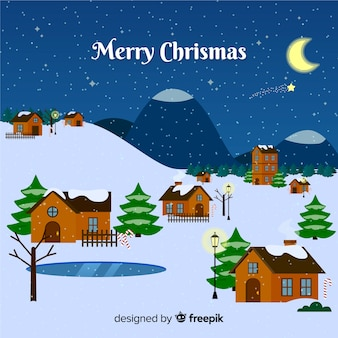 Christmas town background