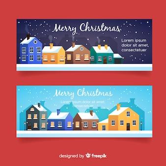 Christmas town banner