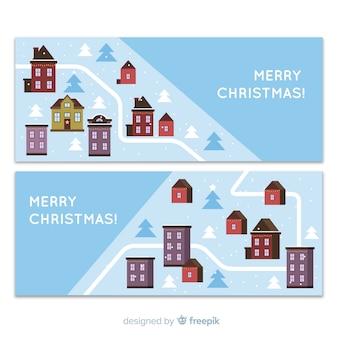 Christmas town banners