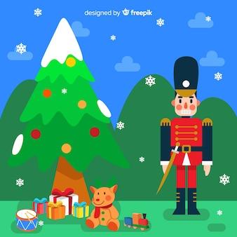 크리스마스 장난감 배경