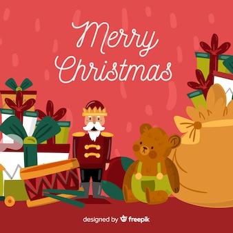 Рождественский фон игрушки