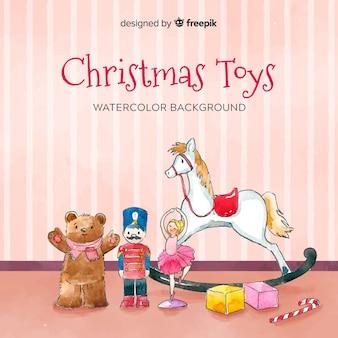 クリスマスのおもちゃの背景