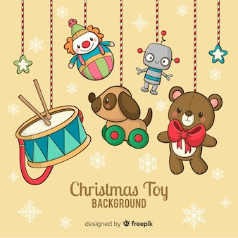 Christmas toys background