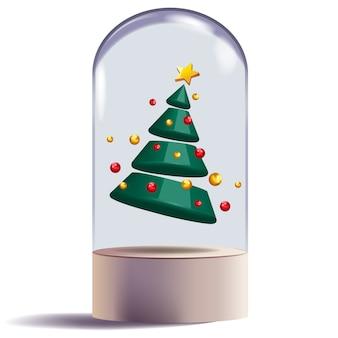 Christmas tree 3d abstract shape design decorative