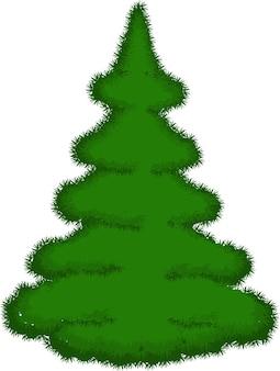 クリスマスツリー白い背景で隔離のクリスマスツリー