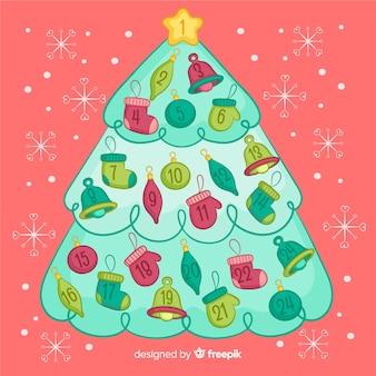 Calendario dell'avvento dell'albero di natale
