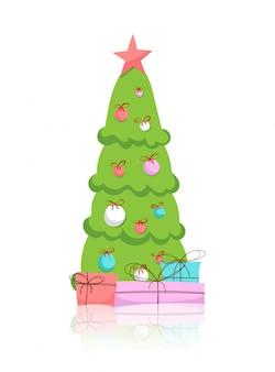 크리스마스 트리와 선물 절연