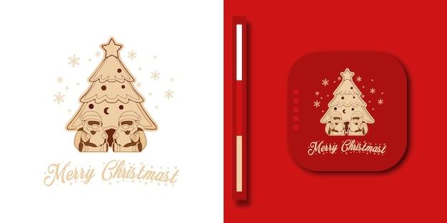 Елка и санта-клаус украшены праздничными шарами