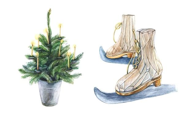クリスマスツリーとスキー分離ベクトル要素