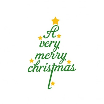 Christmas tree background made with letters