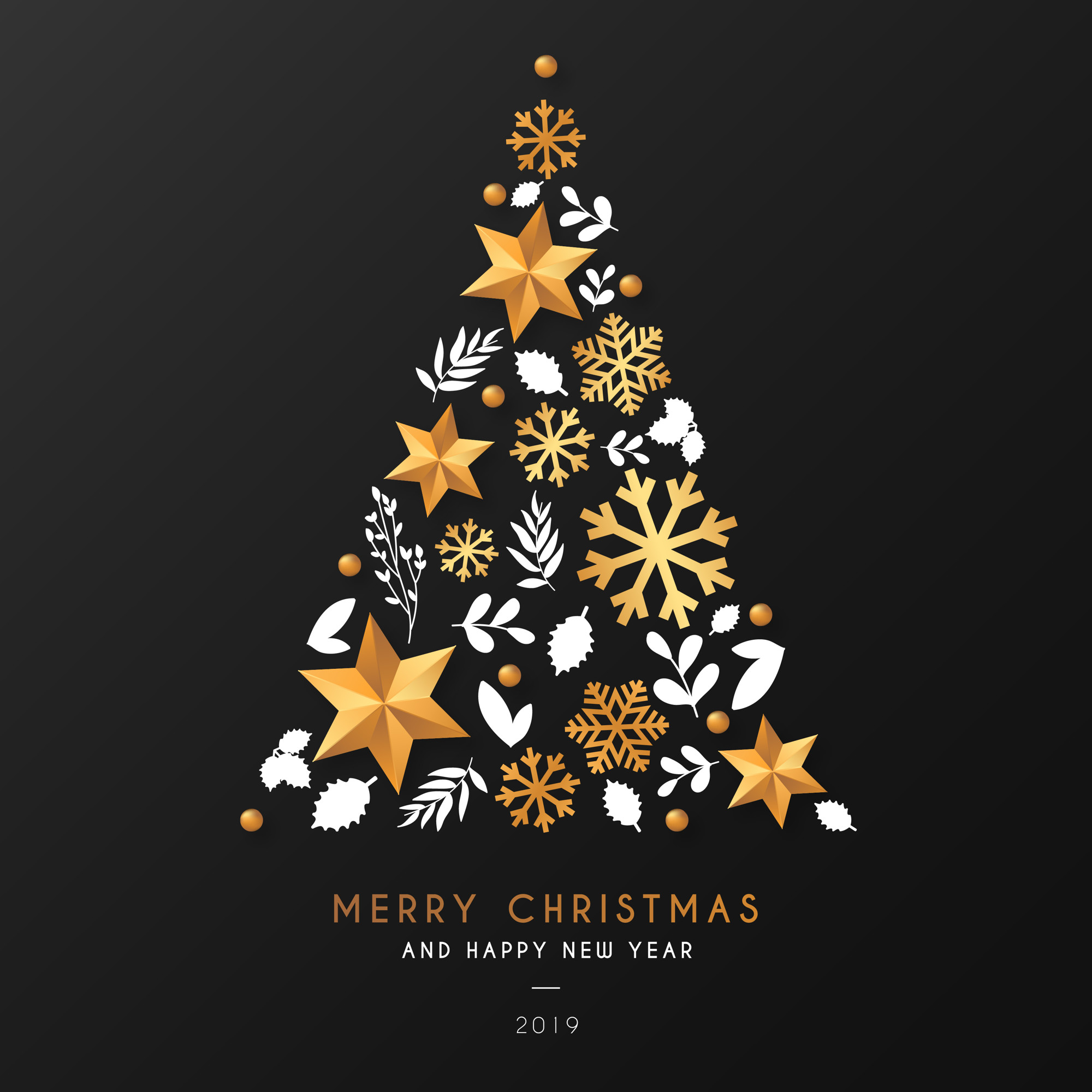 Christmas Tree Background with Ornamental Elements