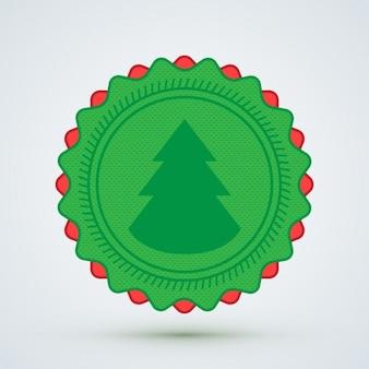 クリスマスツリーのバッジ