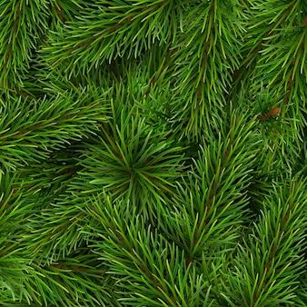 クリスマスツリーの枝の背景。クリスマスカードまたはイベントへの招待状のテンプレート。