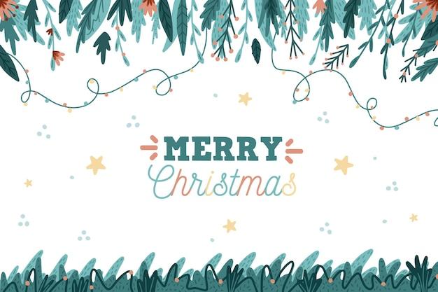 크리스마스 트리 분기 배경