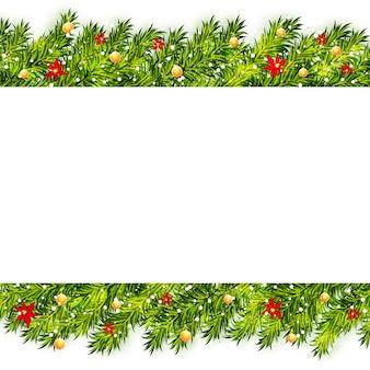 クリスマスツリーの枝フレーム