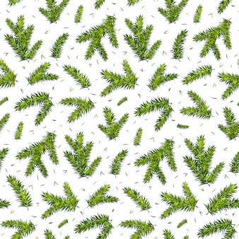 Christmas tree branches seamless pattern background.