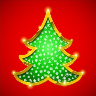 Рождественская елка с золотой каймой