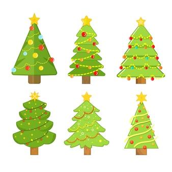 Рождественская елка коллекция рисованной
