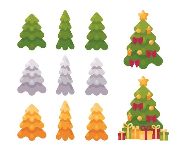 Christmas tree collection.