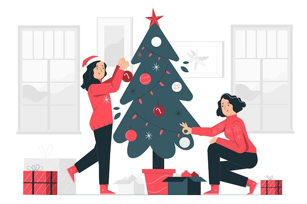 Christmas tree concept illustration