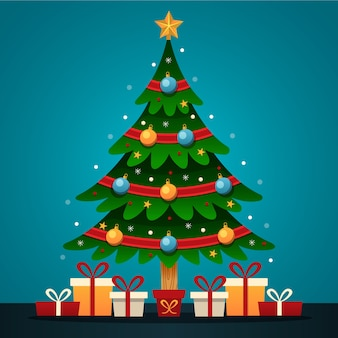 Christmas tree concept with 2d design