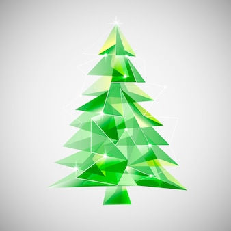 Christmas tree concept with abstract design