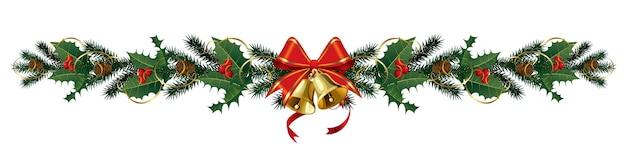 クリスマスツリーの装飾、クリスマスの花輪。